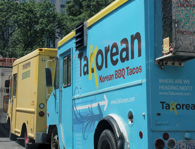 The Fairfax County Planning Commission held a public hearing concerning the operation of food trucks, like these in D.C., on July 30.