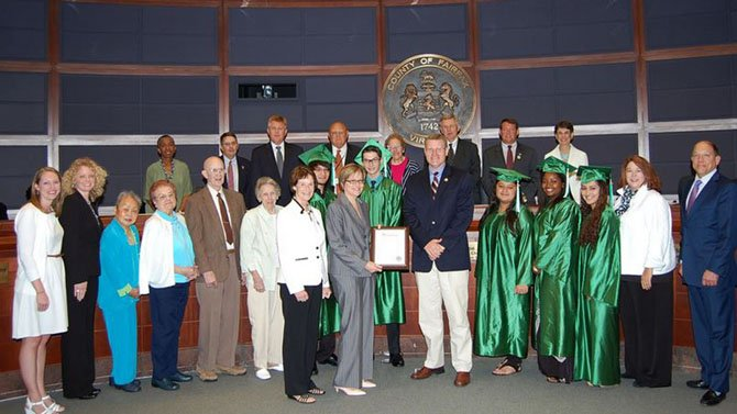 Greenspring Village was recognized for its scholarship fund at the July 29 Board of Supervisors meeting.