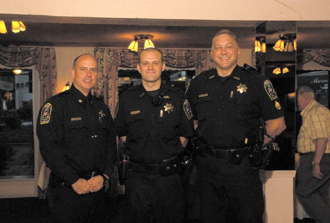 "From left -- Chief James A Morris, Officer Patrick ""Pat"" Kiley and Sgt. Peter Elias."