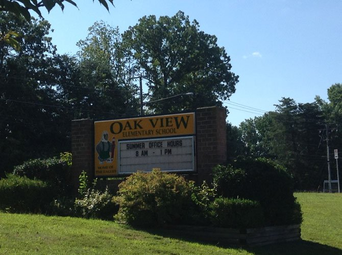 Oak View Elementary is off of Sideburn Road and includes kindergarten through sixth grade.