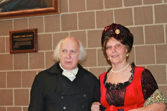 """James Madison, played by John Douglas Hall, and Dolley Madison, played by Carole Herrick at """"An Afternoon with the Madisons."""""""