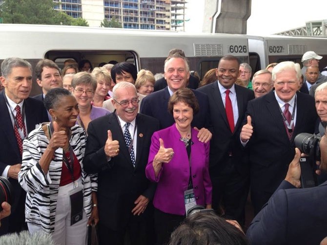 Thumbs up for Silver Line: The long-awaited opening of the WMATA Silver Line, which connects the Reston and the Tysons areas of the county to the Metrorail system.