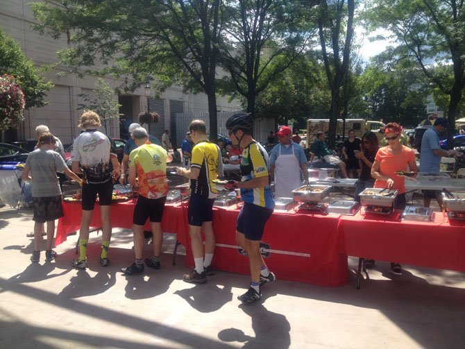 The Reston Bicycle Club hosted a post-ride party under the Reston Town Center Pavilion from 12:30 to 5 p.m. on Sunday, Aug. 24.
