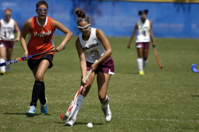 Senior midfielder and team captain Amber Sable is one of the more experienced players on the 2014 Mount Vernon field hockey player.