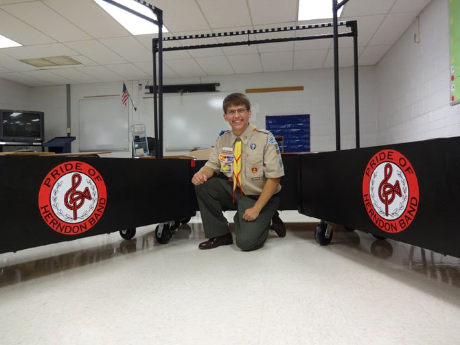 Ryan Jasmann, with Boy Scout Troop 157, dedicated his Eagle Scout project to benefit the Herndon High School Band program.