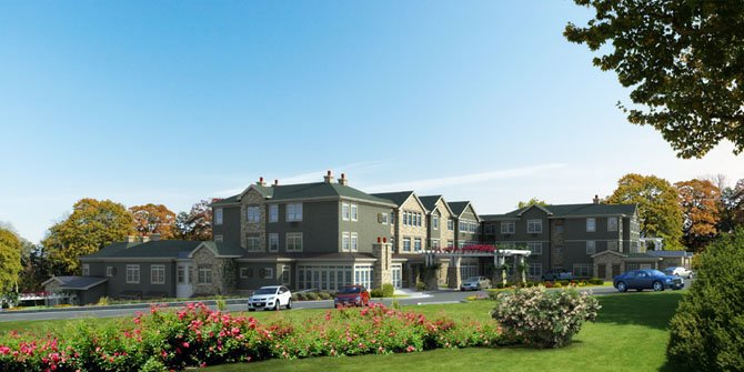 A rendering of BrightView, a new assisted living community that is opening this month.