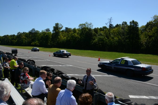 Master Police Officer Joe Moore explains the effects of speed on braking distance.