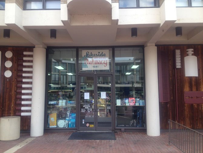 Lakeside Pharmacy which has been at Lake Anne Plaza in Reston for 44 years and was operated by owner and pharmacist Larry Cohn is closing Sept. 22.