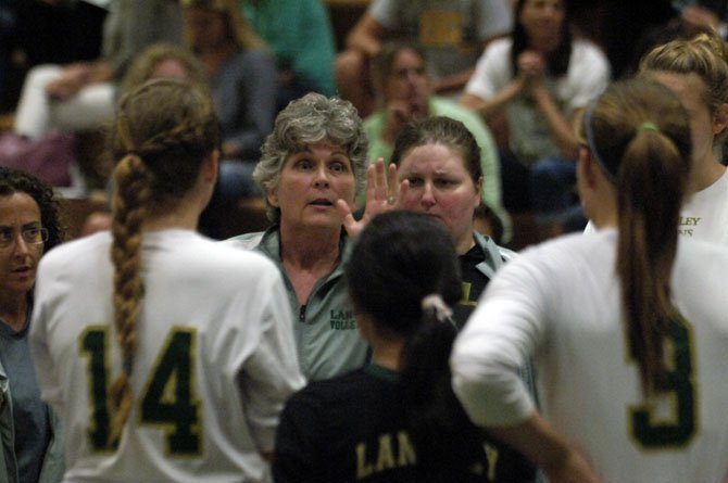 Langley volleyball coach Susan Shifflett reached 300 career victories with a 3-1 win against South Lakes on Monday, Sept. 8.