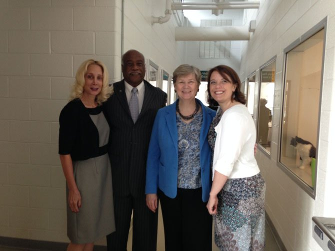 Katherine Reiter, pet loss specialist; Lynnwood Campbell, board member of AWLA and SSA; Mary Lee Anderson, executive director of SSA, and Megan Webb, executive director of AWLA.