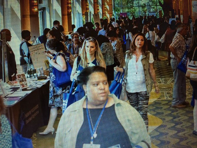 More than 700 people participated in the Power Conference organized by Potomac-based attorney Nancy Regelin.