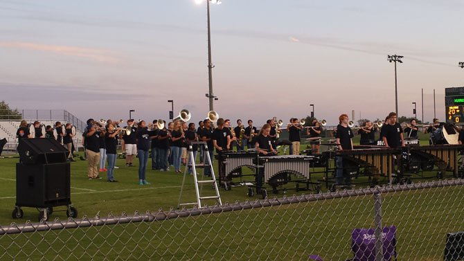 The South County Band performed during the race. All funds go toward supporting the band, new uniforms and new turf for the school's football field.