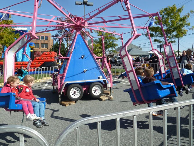 Rides were available for children during Potomac Day.