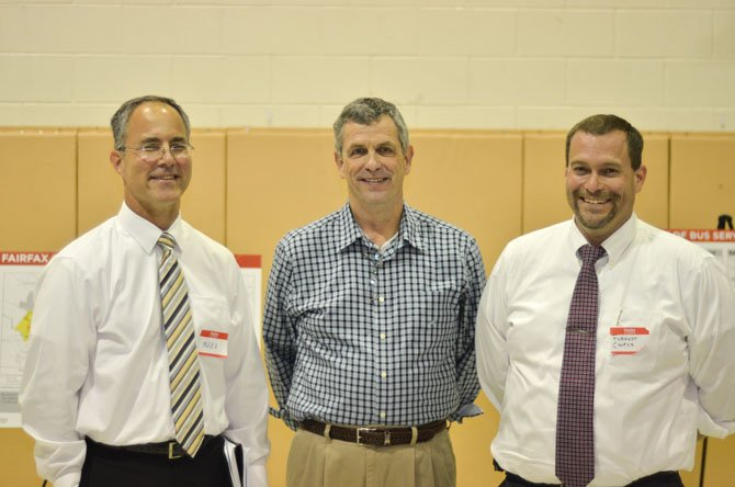 Commuters Mark Overberg, Reston resident Forrest Church, and Fairfax resident Jerry Macken were able to voice their thoughts at the Sept. 22 information session in Reston.