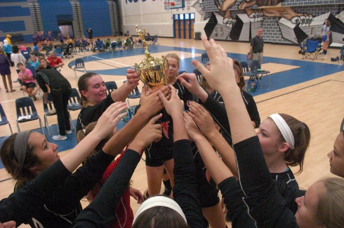 The Madison Warhawks won the 2014 Rebel Volleyball Invitational on Sept. 20 at Fairfax High School.