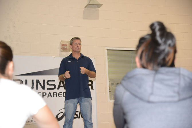 Two-time U.S. Olympic distance runner and Brazilian Jiu Jitsu black belt Todd Williams visits Marymount University to give a workshop about staying safe and avoiding assault while walking or running for exercise.