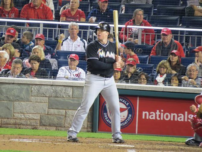 Miami Marlins infielder and 2006 Westfield High School graduate Justin Bour went 3-for-4 during a Sept. 26 game against the Washington Nationals.