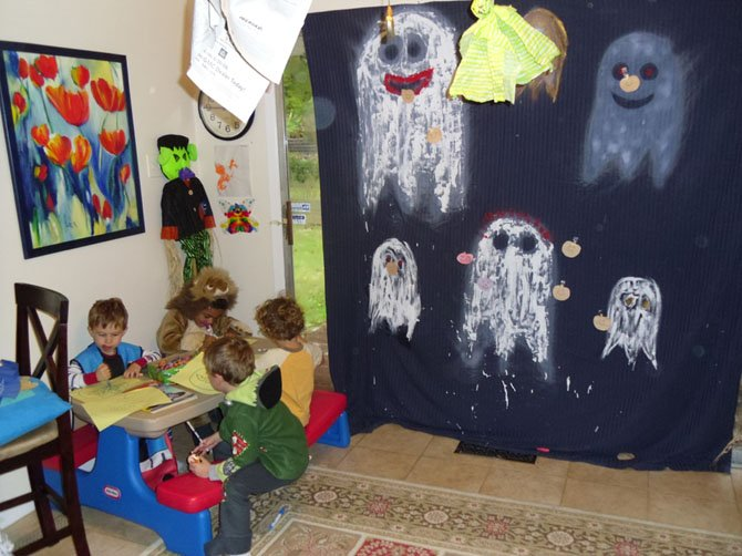 For some young children, Halloween festivities that are meant to entertain can cause too much of a fright.  Merriment that includes activities such as arts and crafts can make celebrations less intimidating.