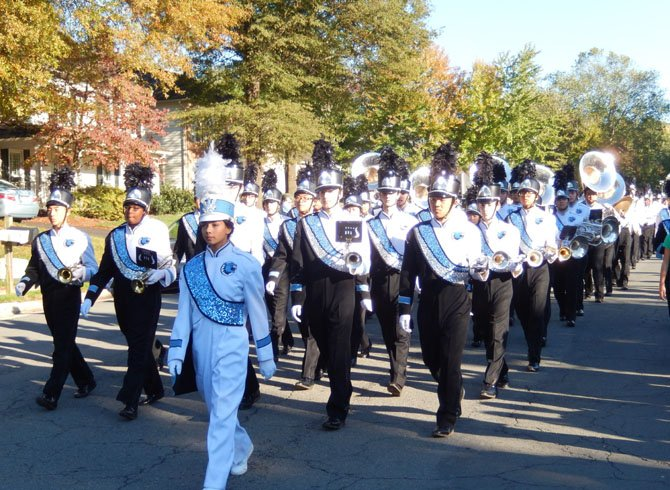Centreville High's marching band.