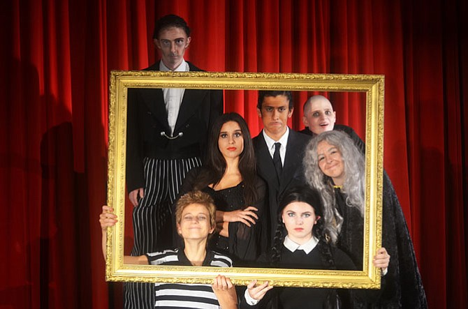 "Members of the Addams Family in MTC's upcoming production of ""The Addams Family"" musical."