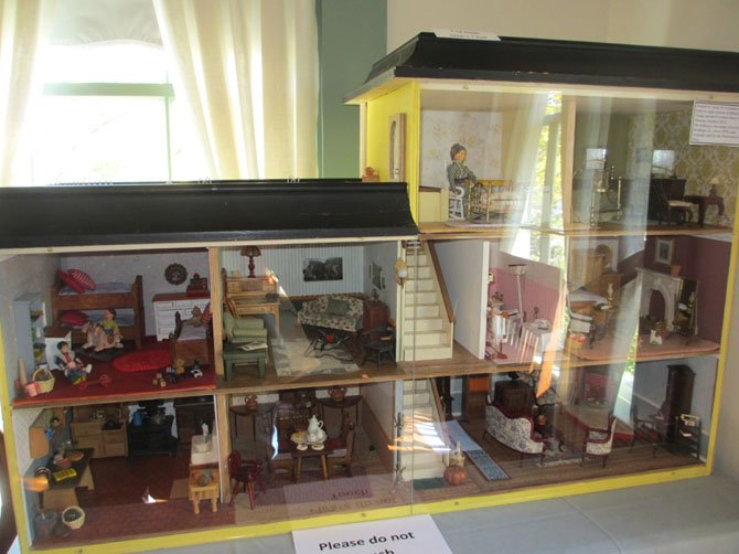 This multi-level and dual-wing doll house, made in the 1970s, was donated to Historic Vienna, Inc. in October, 2014, by Luisa M. Freeman and family.