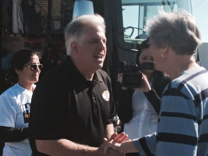 The Potomac Day 2014 parade was full of state and local candidates, with the election approaching on Nov. 4. One state-wide candidate to appear was Larry Hogan, Republican running for Governor.
