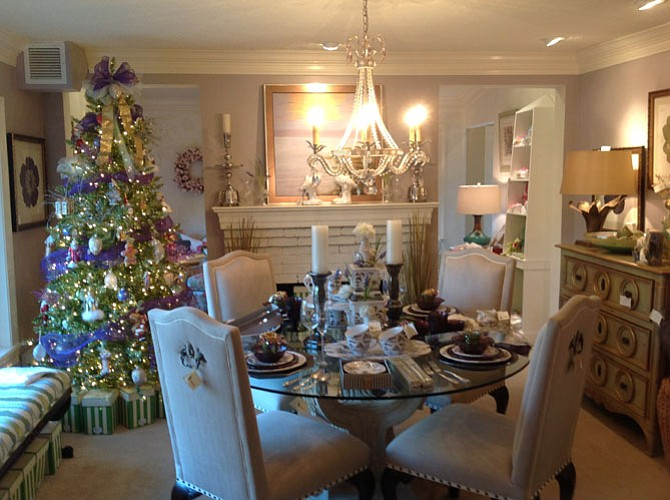 Shoppers will find a holiday wonderland at JT Interiors this weekend.