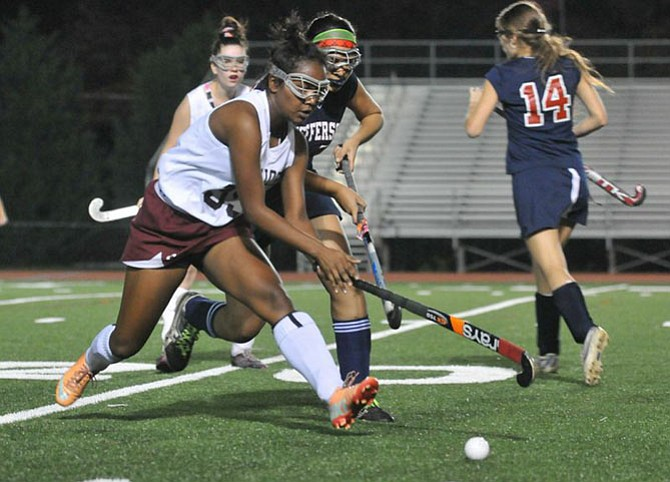 Renisha Wiggins scored a goal against Thomas Jefferson in the Conference 13 semifinals on Tuesday.