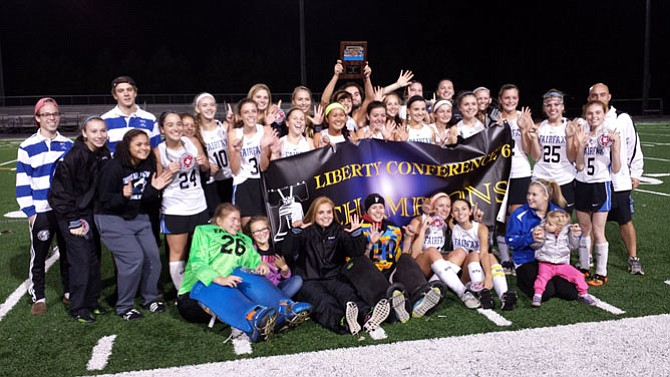 The Fairfax field hockey team won its sixth consecutive Liberty District/Conference 6 championship on Oct. 27.
