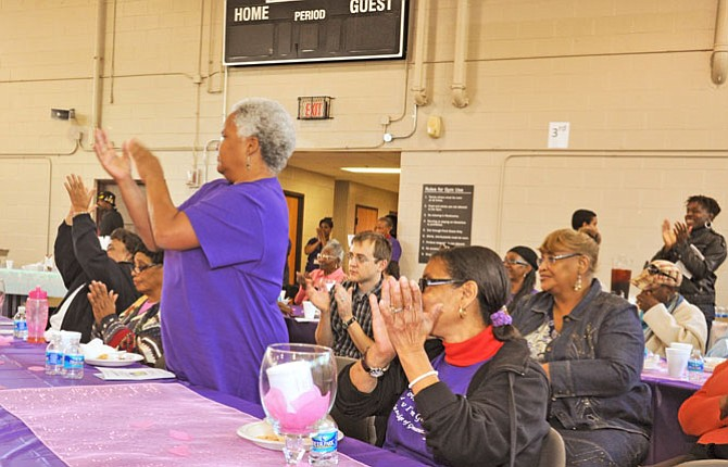 Tyesa Collins's mime produced a standing ovation from the supporters and community members who attended, several individuals in tears.