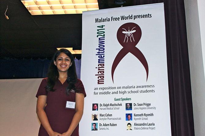 Malaria Free World CEO Kritika Singh, 16, hosted the organization's kickoff event, Malaria Meltdown, on Sunday.