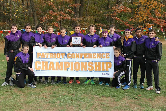 The Lake Braddock boys' cross country team won the Conference 7 title on Oct. 30 at Burke Lake Park.