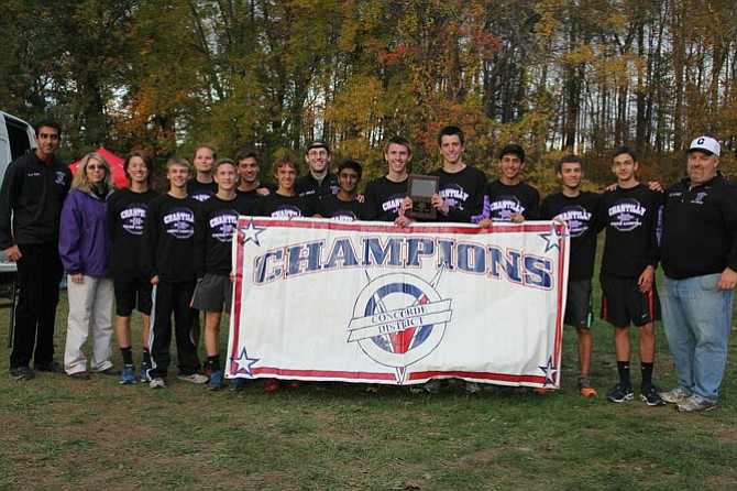 The Chantilly boys won the Conference 5 cross country team title on Oct. 30.