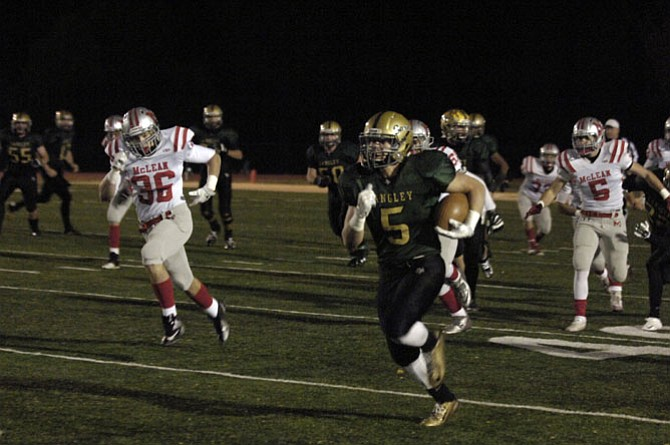 Langley running back Tyler West rushed for 276 yards and four touchdowns against McLean on Nov. 7.