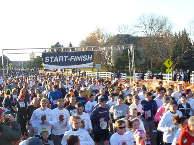 Some 5,000 people participated in Virginia Run's 2013 Turkey Trot.