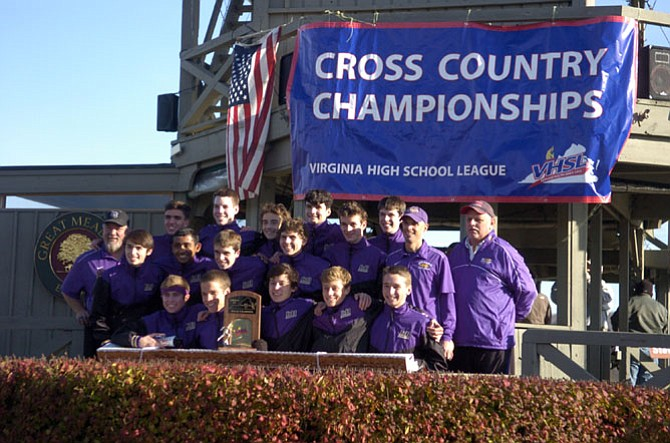 Lake Braddock won the second boys' cross country state championship in program history on Nov. 15 at Great Meadow.