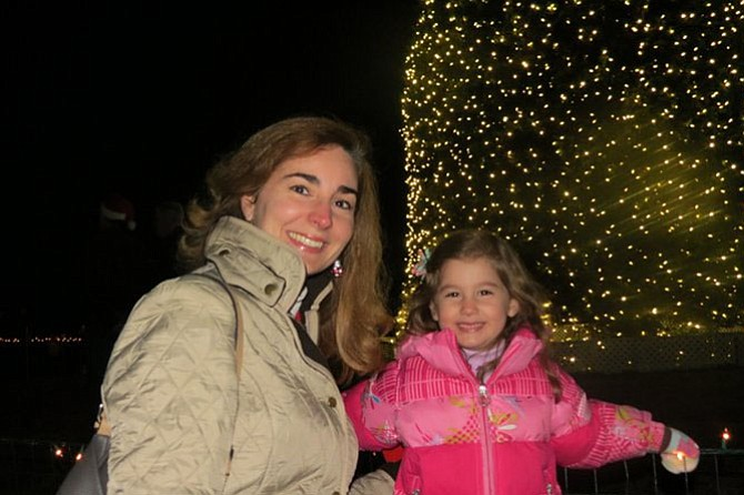 Suzette Luzine with her daughter Veronica, 4, at the Celebration of Lights in 2012.