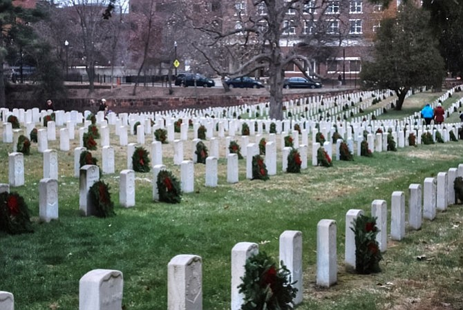 Alexandria National Cemetery in December 2013