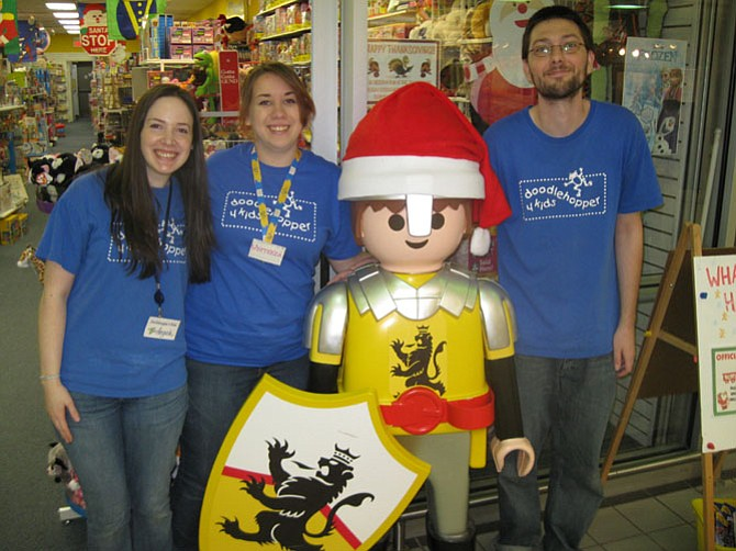 Doodlehopper store employees (from left): Angela Shook, Wysteria Cerva and Ryan Bowden.
