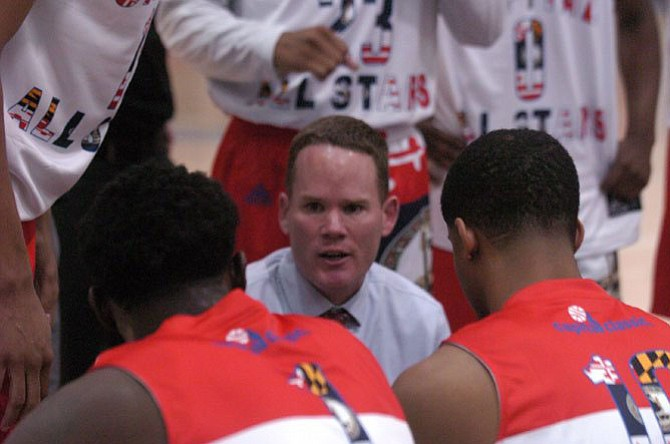 Whitman boys' basketball coach Chris Lun coached in the 41st Annual Capital Classic.