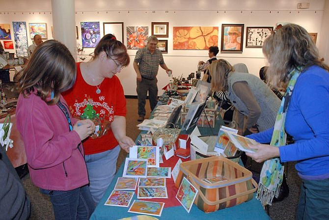 Visitors at Gifts from the HeART were not only able to support local artists with their purchases but also Cornerstones as a portion of all sales went to the local charity organization.