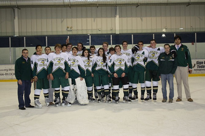 The Langley hockey team beat McLean, 8-2.