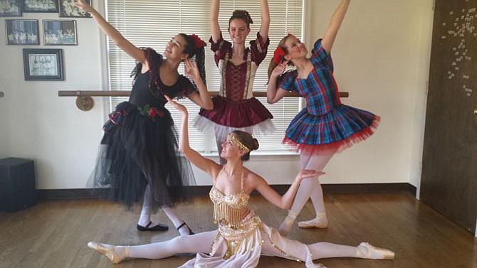 (From top left) Dancers Nicole Luz, 14; Taylor Shenk, 15; Justine Verheul, 15; Amanda Baird, 17.
