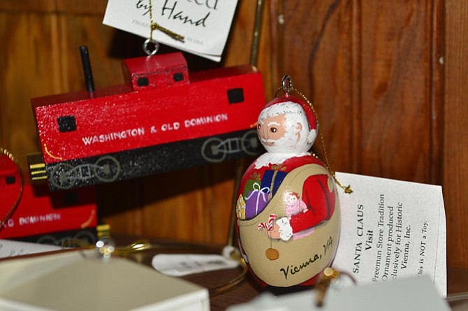 The collectible ornaments by Rachel Peden are available for sale.