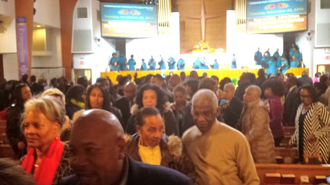 Members of the congregation at Alfred Street Baptist Church.