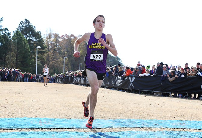 Lake Braddock senior Alex Corbett earned a trip to Nike nationals with a fifth-place finish at the Southeast regional meet on Nov. 29 in Cary, N.C.