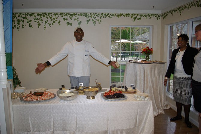 Chef Tony Mack welcomes visitors to the 20th anniversary celebration of Arden Courts in Potomac.