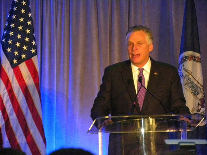"""""""When Virginia grows, America grows,"""" says Gov. Terry McAuliffe during the 95 express lanes opening ceremony on Wednesday, Dec. 10 in Alexandria."""