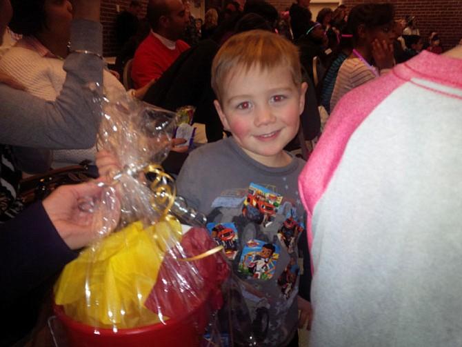 Wyatt Sutton, 3, won second place in the children's Fun Hunt.