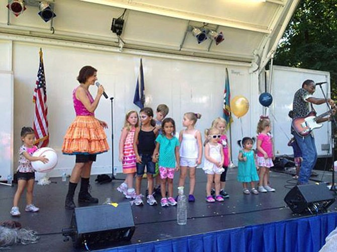 The Milkshake Trio entertain a group of young fans at the Sept. 7, 2014 Burke Centre Festival.